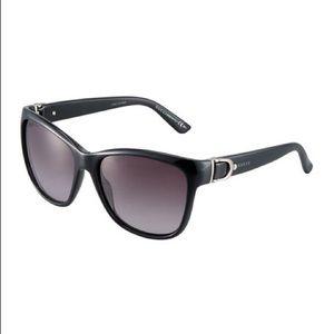NWOT Black cat-eye Acetate Gucci Sunglasses & case